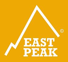 East Peak Apparel - Gold Square logo - Tshirt by springwoodbooks