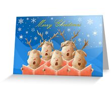 Christmas greeting card (in blue) Greeting Card