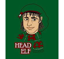 Head Elf - Green Photographic Print