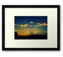 Sunray Sunset Framed Print