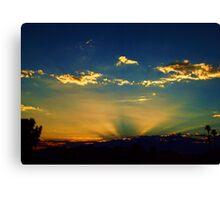 Sunray Sunset Canvas Print