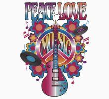 Peace, Love and Music Kids Tee