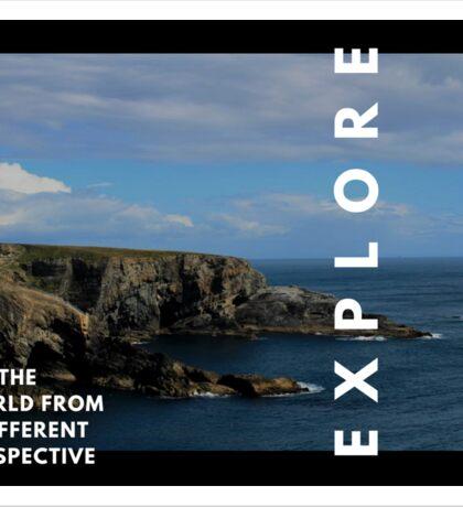Explore the world Sticker
