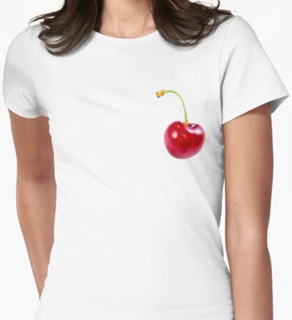 A Single Cherry Womens Fitted T-Shirt