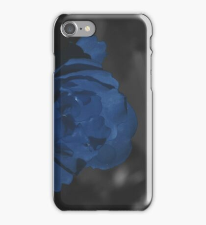 Moody Blue Floral Background iPhone Case/Skin