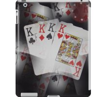 Quad Kings Poker Cards On Layer Pattern. iPad Case/Skin