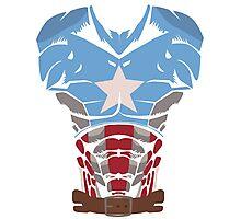 Captain America T-shirt Photographic Print