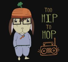 Too Hip To Hop - Hipster Easter Bunny Kids Tee