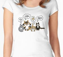 What Cats Think About Women's Fitted Scoop T-Shirt