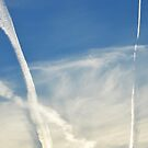 Contrails & Clouds by Laurie Minor