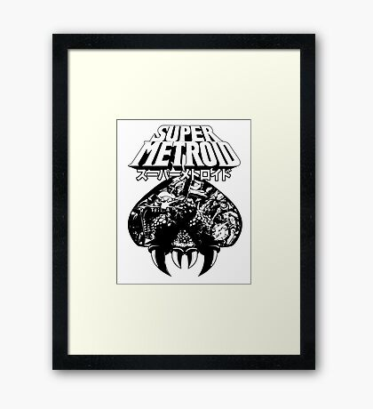 Super Metroid (Japanese Classic Edition) Framed Print