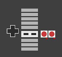 NES Controller Duvet by Alex Papanicola