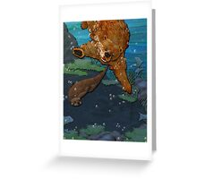 Otter and Bear Greeting Card