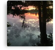 sunset reflection off water Canvas Print