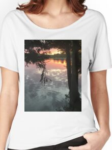 sunset reflection off water Women's Relaxed Fit T-Shirt