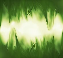 Green vibrant grass background texture by iWorkAlone