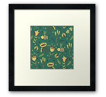 Bees and ladybugs Framed Print