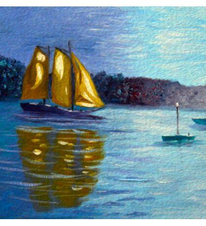 sailboats, sailing, wall art, nautical art, home decor, ocean painting Sticker