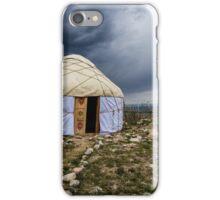 Yurt Under a Stormy Sky iPhone Case/Skin