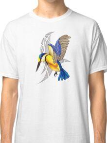 Sacred Kingfisher in flight Classic T-Shirt