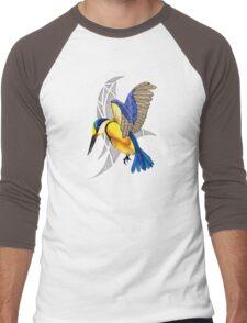 Sacred Kingfisher in flight Men's Baseball ¾ T-Shirt