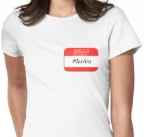 Seinfeld - My name is Mulva Womens Fitted T-Shirt