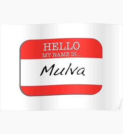 Seinfeld - My name is Mulva Poster