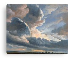 Study of Clouds with a Sunset near Rome - Simon Denis - ca. 1790 Canvas Print