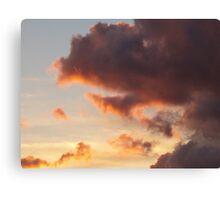 Deep Orange in Dark Clouds Canvas Print