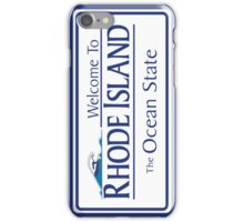 Welcome to Rhode Island The Ocean State, Road Sign, USA iPhone Case/Skin