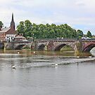 The River Dee from the Groves Chester by AnnDixon