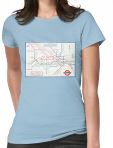 VINTAGE LONDON UNDERGROUND TUBE MAP HENRY BECK Womens Fitted T-Shirt