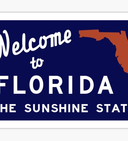 Welcome to Florida, Vintage Road Sign 70s Sticker