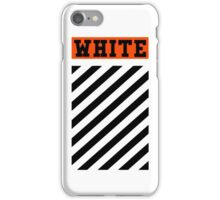 Off-White Orange Logo (White) iPhone Case/Skin