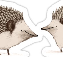 Two Hedgehogs Sticker