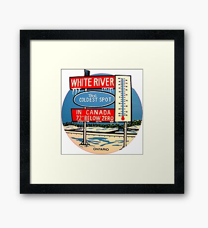 White River Ontario Canada Vintage Travel Decal  Framed Print