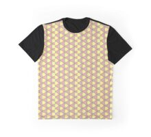 Pale pink and duck yellow triangle love Graphic T-Shirt
