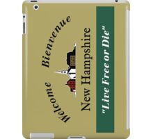 Welcome to New Hampshire, Road Sign, USA iPad Case/Skin