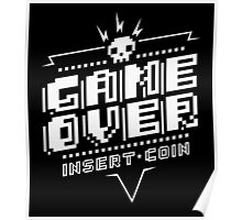 Game Over (White) Poster