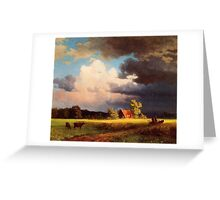 Bierstadt Albert Bavarian Landscape. Greeting Card