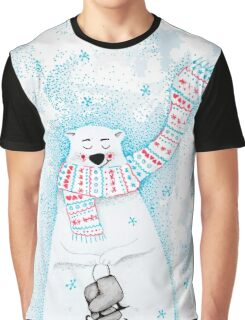 Polar bear goes ice skating! Graphic T-Shirt