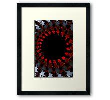 Fractal Red Black White Framed Print