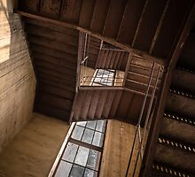 Industrial staircase going up to the tower by iWorkAlone