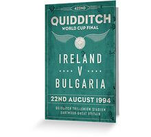 Weathered 1994 Quidditch World Cup Final Greeting Card