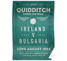 Weathered 1994 Quidditch World Cup Final Poster