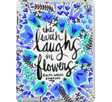 The Earth Laughs in Flowers – Turquoise & Blue iPad Case/Skin