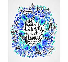 The Earth Laughs in Flowers – Turquoise & Blue Photographic Print