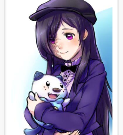 Hanako and Oshawott Sticker