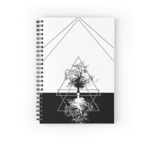 Black And White Tree Spiral Notebook