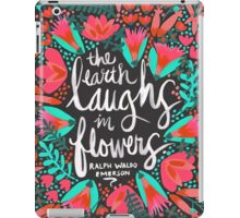 The Earth Laughs in Flowers – Pink & Charcoal iPad Case/Skin